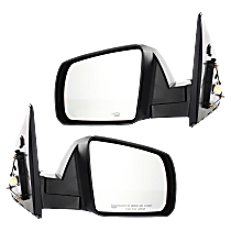 Mirror - Driver and Passenger Side (Pair), Power, Heated, Folding, Textured Black, For Cold Climate Specification