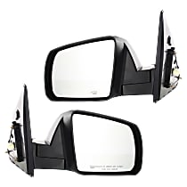 Kool Vue Power Mirror, Driver and Passenger Side, Base/SR5 Models w/ Cold Climate Spec, Man-Fold, HTD, w/o Memory, Signal and Puddle Light, Txtrd Blk