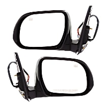 Kool Vue Power Mirror, Driver and Passenger Side, Manual Folding, Heated, w/ Signal and Puddle Lights, Paintable