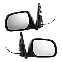 Power Mirror, Driver and Passenger Side, Japan Built, Manual Folding, Non-Heated, w/o Signal, Paintable