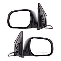 Power Mirror, Driver and Passenger Side, Japan Built, Manual Folding, Heated, w/ Signal, Paintable