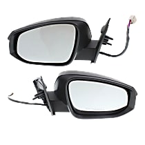 Kool Vue Power Mirror, Driver and Passenger Side, Japan/North America Built, To 11-14, Man-Fold, w/o Blind Sport Detection, HTD, w/ LED Signal, Paintable
