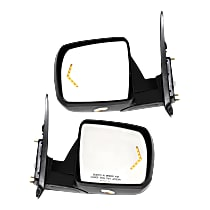 Kool Vue Power Mirror, Driver and Passenger Side, Sequoia SR5, Platinum/Tundra Limited Models, Pwr-Fold, HTD, w/ Memory, Sgnl In Gls & Pdl Lgt, Chrome