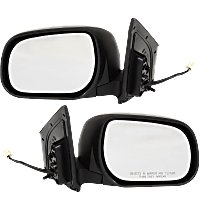 Mirror - Driver and Passenger Side (Pair), Power, Paintable, US Built Models