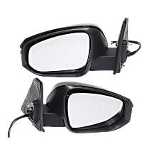 Kool Vue Power Mirror, Driver and Passenger Side, Manual Folding, Heated, w/ LED Signal and Puddle Lights, Paintable