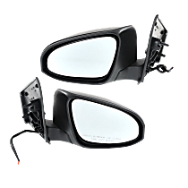 Power Mirror, Driver and Passenger Side, Manual Folding, Heated, w/o Signal, Paintable