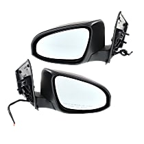 Kool Vue Power Mirror, Driver and Passenger Side, Manual Folding, Heated, w/o Signal, Paintable