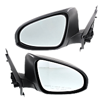 Mirror - Driver and Passenger Side (Pair), Textured Black, For Models Built in Japan