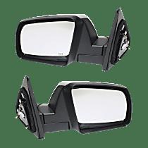 Power Mirror, Driver and Passenger Side, SR5 Model, Manual Folding, Heated, w/o Signal, Chrome