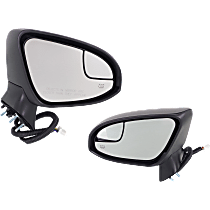 Mirror - Driver and Passenger Side (Pair), Power, Heated, Power Folding, Paintable, With Turn Signal, Memory and Puddle Lamp