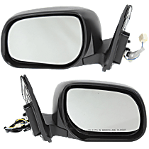 Mirror - Driver and Passenger Side (Pair), Power, Textured Black, For US Built Models