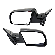 Mirror - Driver and Passenger Side (Pair), Power, Heated, Power Folding, Black, Blind Spot Function, Models w/ Lane Change Assist