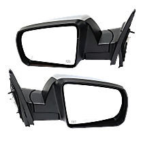 Mirror - Driver and Passenger Side Pair, Power, Heated, Power Folding, Chrome, Blind Spot Function, Models With Lane Change Assist