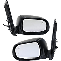 Mirror - Driver and Passenger Side (Pair), Power, Heated, Folding, Paintable, With Blind Spot Function and Puddle Lamp