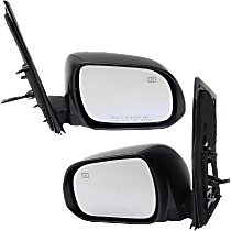 Mirror - Driver and Passenger Side (Pair), Power, Heated, Folding, Paintable, With Memory and Puddle Lamp