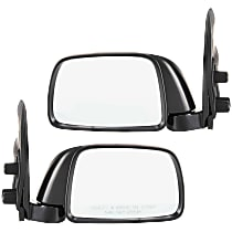 Kool Vue Manual Mirror, Driver and Passenger Side, Manual Folding, 9 x 5 In. Housing, Textured Black