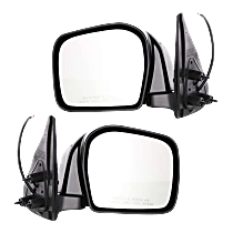 Mirror - Driver and Passenger Side (Pair), Power, Folding, Paintable, For RWD or 4WD