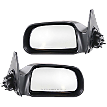 Mirror - Driver and Passenger Side (Pair), Manual Remote, Paintable, For RWD