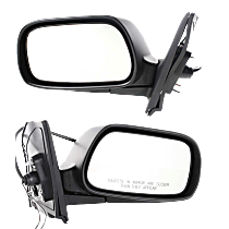 Power Mirror, Driver and Passenger Side, CE Model, Manual Folding, w/ Signal, Paintable