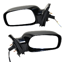 Power Mirror, Driver and Passenger Side, CE Model, Non-Folding, w/o Signal, Paintable