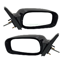 Mirror - Driver and Passenger Side (Pair), Manual Remote, Folding, Paintable, For Models With Deluxe Interior