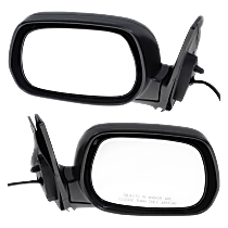 Mirror - Driver and Passenger Side (Pair), Power, Paintable, Black Base