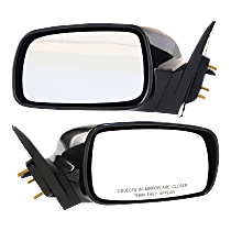 Power Mirror, Driver and Passenger Side, For USA Built Models, Non-Folding, Non-Heated, Paintable