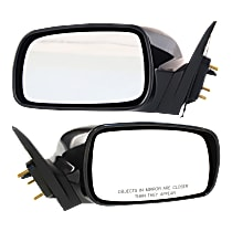 Kool Vue Power Mirror, Driver and Passenger Side, For USA Built Models, Non-Folding, Non-Heated, Paintable