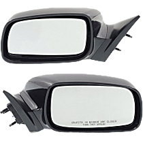 Power Mirror, Driver and Passenger Side, For Japan Built Models, Non-Folding, Non-Heated, Paintable