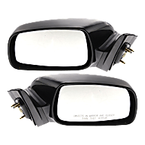 Power Mirror, Driver and Passenger Side, For USA Built Models, Non-Folding, Heated, Paintable