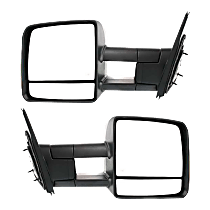 Mirror - Driver and Passenger Side (Pair), Towing, Power, Heated, Folding, Textured Black, With Turn Signal
