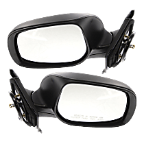 Mirror - Driver and Passenger Side (Pair), Power, Folding, Paintable, For Hatchback