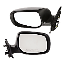 Mirror - Driver and Passenger Side (Pair), Folding, Paintable, For Hatchback