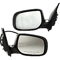 Power Mirror, Driver and Passenger Side, Japan/USA Built Models, Manual Folding, Non-Heated, Paintable