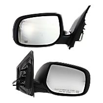 Kool Vue Power Mirror, Driver and Passenger Side, Japan/USA Built Models, Manual Folding, Heated, Paintable