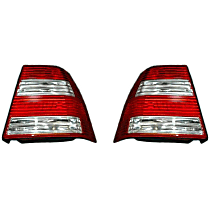 Driver and Passenger Side Tail Light, Without bulb(s) - Clear & Red Lens, GL/GLS Models