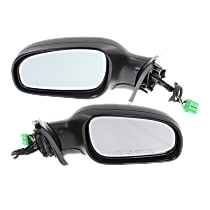 Power Mirror, Driver and Passenger Side, Manual Folding, Heated, w/o Memory, w/ Puddle Light, Paintable