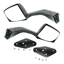 Driver and Passenger Side Non-Heated Mirror - Manual Glass, Manual Folding, Without memory, Textured Black