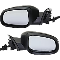 Driver and Passenger Side Heated Mirror - Power Glass, Power Folding, In-housing Signal Light, With Memory, Paintable