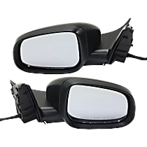 Driver and Passenger Side Heated Mirror - Power Glass, Manual Folding, In-housing Signal Light, With Memory, Paintable