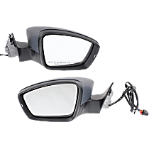 Mirror - Driver and Passenger Side (Pair), Power, Heated, Paintable, With Turn Signal