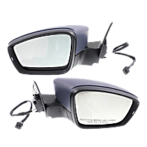 Mirrors - Driver and Passenger Side, Pair, Power, Heated, Paintable, With In-Housing Turn Signal