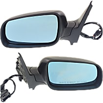 Power Mirror, Driver and Passenger Side, Manual Folding, Blue Glass, Heated, w/o Memory, Paintable