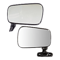 Mirror - Driver and Passenger Side (Pair), Manual Remote, Folding, Textured Black