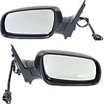Power Mirror, Driver and Passenger Side, Manual Folding, Clear Glass, Heated, w/o Memory, Paintable