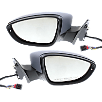 Mirror - Driver and Passenger Side (Pair), Power, Heated, Power Folding, Paintable, Memory and Puddle Lamp, Models w/ Seat Memory