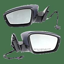 Power Mirror, Driver and Passenger Side, Sedan/Hybrid Models, Manual Folding, Heated, w/ Signal, Paintable