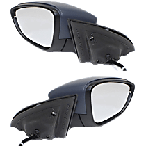 Mirror - Driver and Passenger Side (Pair), Power, Heated, Folding, Paintable, With Turn Signal, Memory and Puddle Lamp