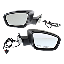 Power Mirror, Driver and Passenger Side, To 4-2-12, Manual Folding, Heated, w/ Memory and Signal, Paintable