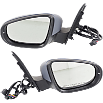 Mirror - Driver and Passenger Side (Pair), Power, Heated, Power Folding, Paintable, With Turn Signal and Puddle Lamp